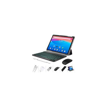 Imagem de Tablet 10 Inch 4G lte, Android 10.0 Pie Tablets with Wireless Keyboard Case and Mouse, 4GB ram 64GB rom, Quad Core, 8MP Dual Camera, Dual 4G sim Support A&TT and T-Mobile Importado