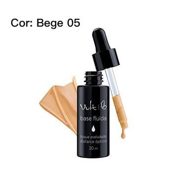 Base Fluída toque aveludado 20 ml - Vult Cor: bege 05