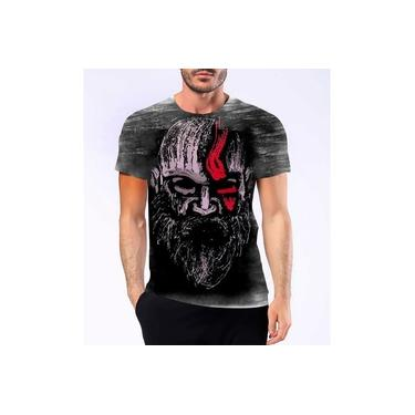 Camiseta Camisa Personalizada God Of War Kratos Jogo Ps4 Hd