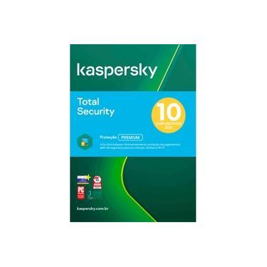 Kaspersky Total Security 10 Dispositivos 1 Ano Versão 2021