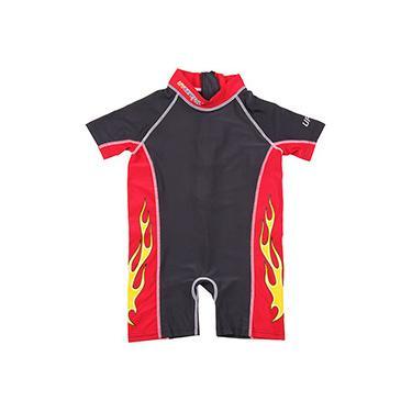 Imagem de Macacão para Natação Careful Swim Suits Preto e Vermelho - Bestway