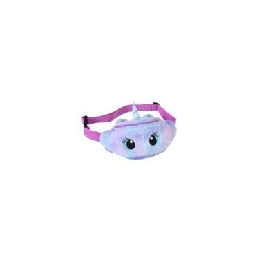 Peito Unicórnio violeta Plush Crossbody Bag Moda Unicorn cintura pack Big Eye Bag Delicate Bolsa de Ombro Meninas saco da cintura macia