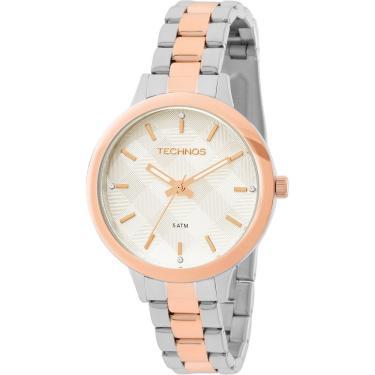 3797f2f8585 Relógio Feminino Technos Analógico 2036MEU 5K - Prata Rosê