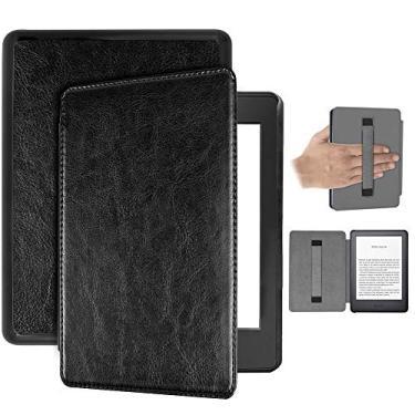 Capa Kindle Paperwhite 10ª geração à prova d'água – Auto Hibernação – Fecho Magnético – Alça leitura - Preta