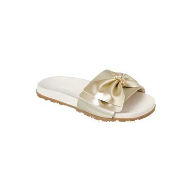 Chinelo Infantil Klin Slide 003 Dourado