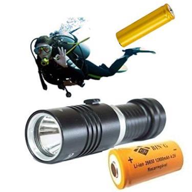 Lanterna Mergulho Cree T6 Recarregável à Prova Dágua 100m GB601
