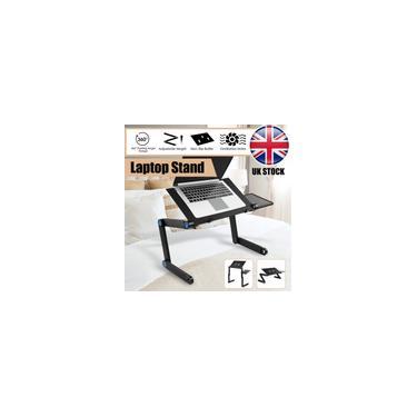 Imagem de Suporte de mesa dobrável Suporte de mesa ajustável para notebook de 360 ° com orifícios de ventilação Suporte de mesa de computador Bandeja de cama para sofá-cama Tapete Prado