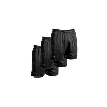 Kit c/3un Calção short futebol fitness corrida Proteção UV