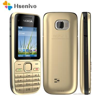 Nokia C2-01 remodelado-original C2-01 ouro desbloqueado celular gsm remodelado celulares & russo