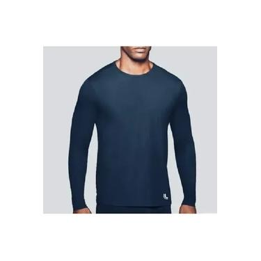 Camiseta Lupo AM Repelente UV Masculina - 77031 - Azul Marinho