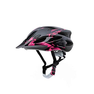 Imagem de Capacete Ciclismo Tsw Raptor 2 Com Led Preto Rosa Mtb Tam M