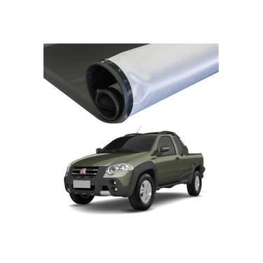 Imagem de Capota Maritima Fiat Strada 1998 a 2013 Cabine Estendida sem Grade e Gancho com Estepe Flash Cover Lona Preta