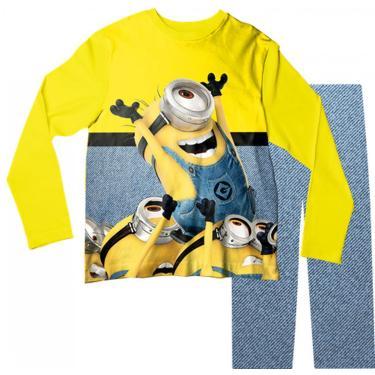 Pijama Infantil Minions Amarelo Pjml