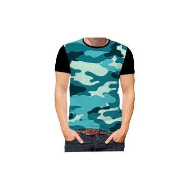 C1 Camiseta Camisa Camuflagem Exército Estampas Cores Hd