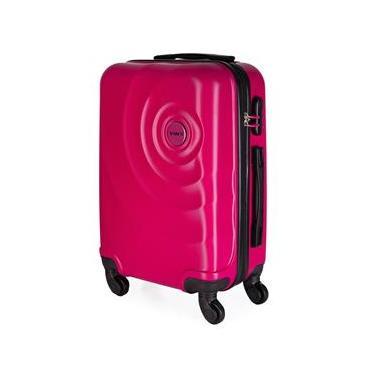 Mala de Bordo para Viagem em ABS Star Yins Cadeado Embutido Rodas Giro 360º Tam PP Rosa