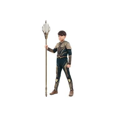 Imagem de Fantasia Aquaman luxo longo Com Peitoral Tam M