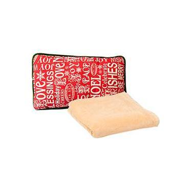 031ed9d66e Cobertor Solteiro Fleece Soft Class Liso Marfim - Casa   Conforto +  Almofada Retangular Letrinhas -