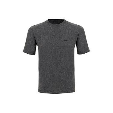 Camiseta Silver Fresh Masculina com Proteção Solar 50 Cinza Mescla Manga Curta Curtlo