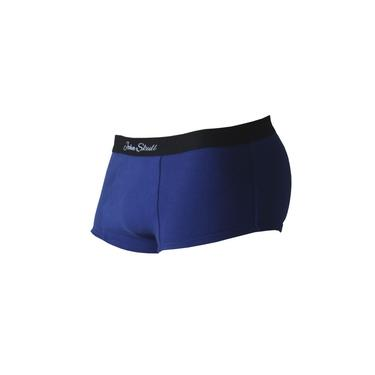 Cueca Mini Boxer Azul com Enchimento Traseiro Empina Bumbum John Skull