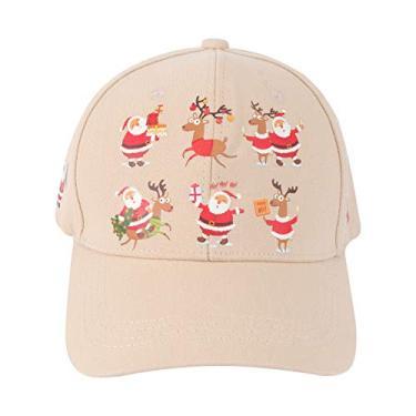Sun pico tampão de natal pattern themed beisebol boné de beisebol santa claus chapéu