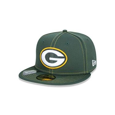 BONE 59FIFTY FECHADO NFL ON-FIELD COLECAO SIDELINE GREEN BAY PACKERS ABA RETA VERDE NEW ERA