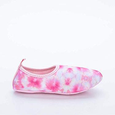 Sapatilha Infantil Feminina Kidy Socks Fun Tie Dye Rosa e Laranja