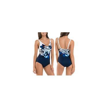 Sem mangas estampa floral maiô feminino biquíni praia peça única