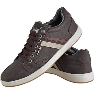 Sapatênis Masculino Casual Zíper Elástico CR Shoes Marrom