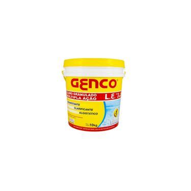 Imagem de Cloro Granulado Balde com 10kg 3 em 1 Cloro Clarificante e Algistatico