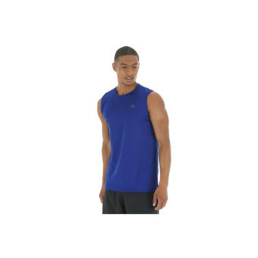 Camiseta Regata adidas Workout - Masculina - AZUL ESC PRETO adidas fee6ab9adc8