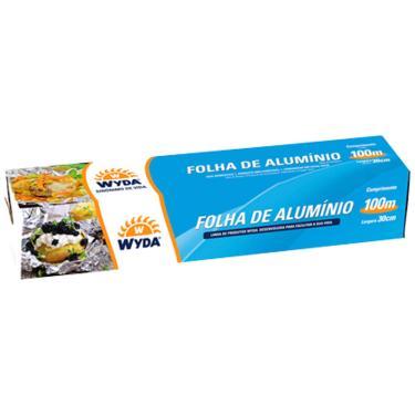 Papel Alumínio 100mx30cm Wyda 300381