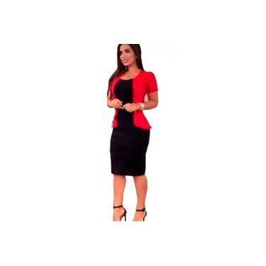 Vestido Feminino Midi Moda Evangélica Congressos