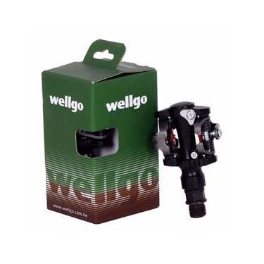 Par de Pedal Mtb Clip Wellgo M919 Com Tacos E Regulagem