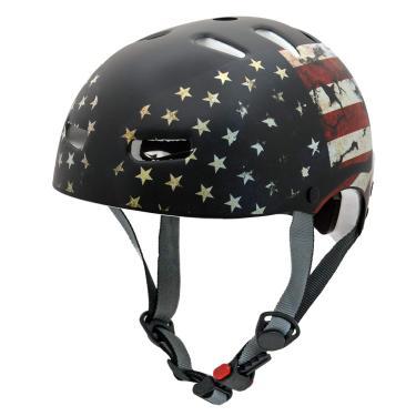 Capacete Kraft Bandeira USA Skate / Patinete / Scooter Elétrica