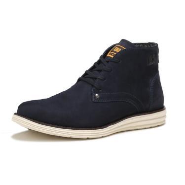 Bota Coturno em Couro Caterpillar Trivalle Shoes Azul  masculino