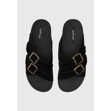 Rasteira Birken DAFITI SHOES Transpasse Preta DAFITI SHOES TN 150 feminino