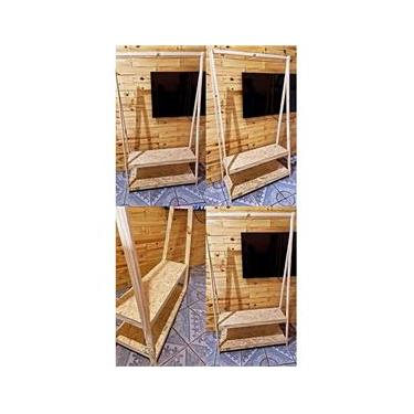 Imagem de Arara para Roupas desmontável com duas Prateleiras / sapateira