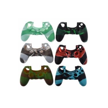 2 Capas de Silicone para Controle Joystick Playstation 4 Ps4 Variado