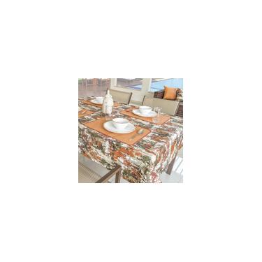 Imagem de Toalha De Mesa 04 Cadeiras Impermeável 1,40x1,50m Laranja