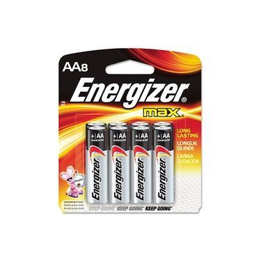 Pilha Energizer Max Power Seal AA8 Palito Alcalina de 1,5V