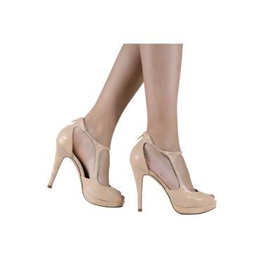 Sapato Laura Porto Bico Aberto Salto Fino