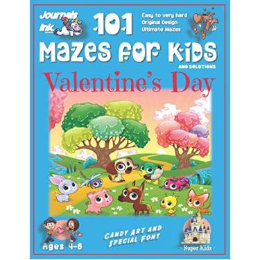 101 Mazes for Kids: SUPER KIDZ Book. Children - Ages 4-8 (US Edition). Cute Custom Candy Art Interior. 101 Puzzles & Solutions. Baby Friends, Blue. ... ultimate mazes for a fun activity gift!: 22