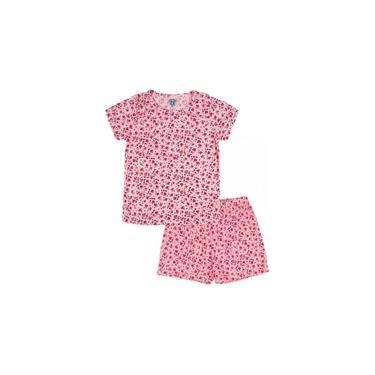 Conjunto Pijama Infantil Corações Rosa Sapekinhas - SK1001-RS
