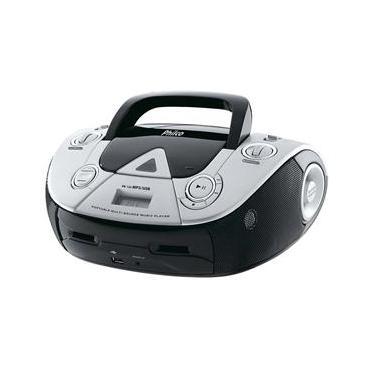 Som Portátil Philco PB126 com CD Player MP3, Rádio FM, Entrada USB e Auxiliar de Áudio - Preto