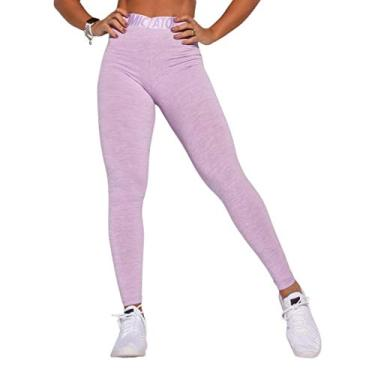 Legging Fitness Atomic Lilás Mesclada LG1577.1.P Roxo