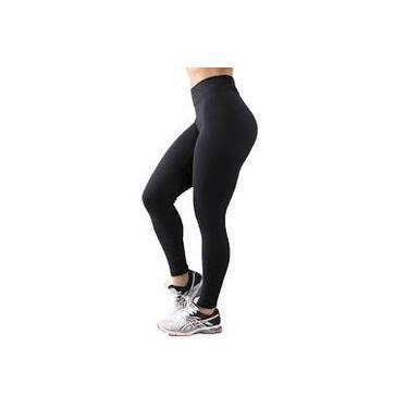Imagem de Calça Legging Preta Fitness Cintura Alta Academia Suplex LIVIA MODAS