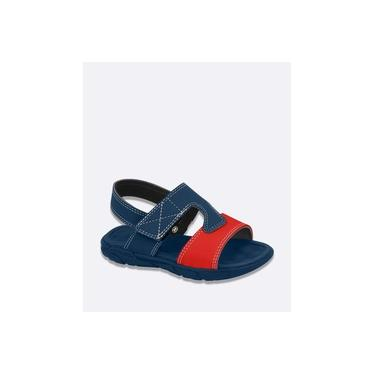 Sandália Infantil Bicolor Velcro Molekinho