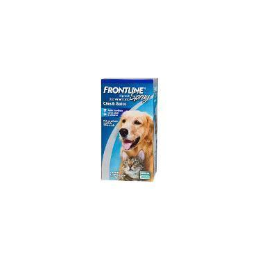 Medicamento Antipulgas e Carrapatos p/ cães e gatos Spray 250ml  - Frontline