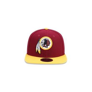 1c6290b2cd Bone 950 Original Fit Washington Redskins Nfl Aba Reta Snapback Vermelho Escuro  New Era
