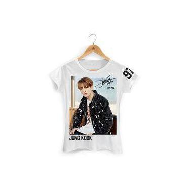 Camiseta Bts Baby Look Jung Kook 97 Branca 6afa68dec47d4